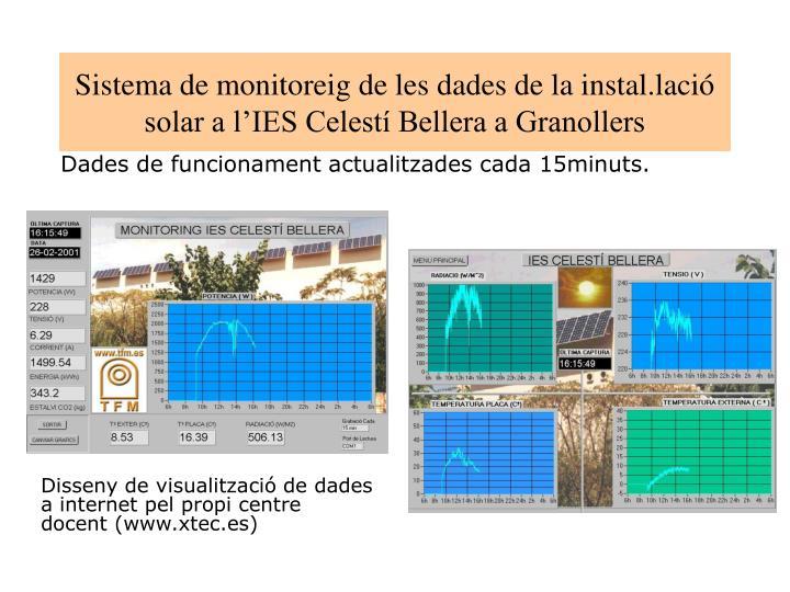 Sistema de monitoreig de les dades de la instal.lació solar a l'IES Celestí Bellera a Granollers