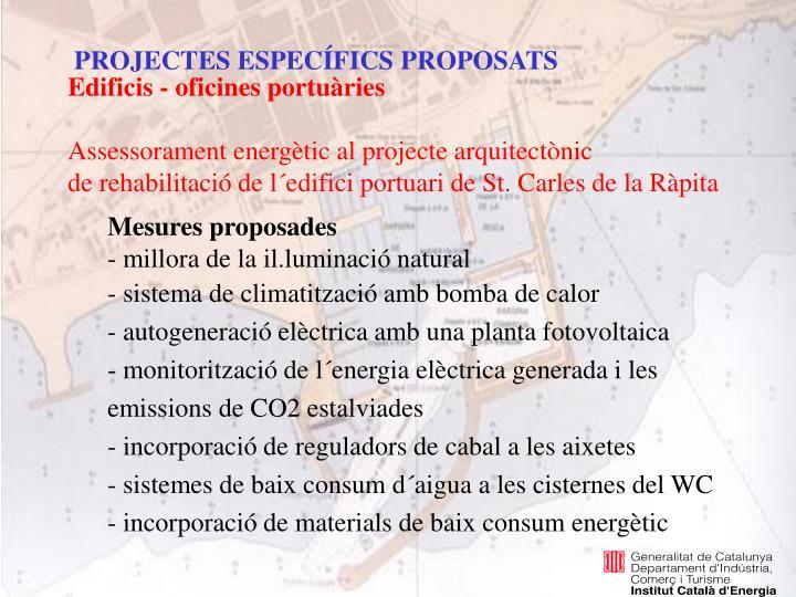 PROJECTES ESPECÍFICS PROPOSATS