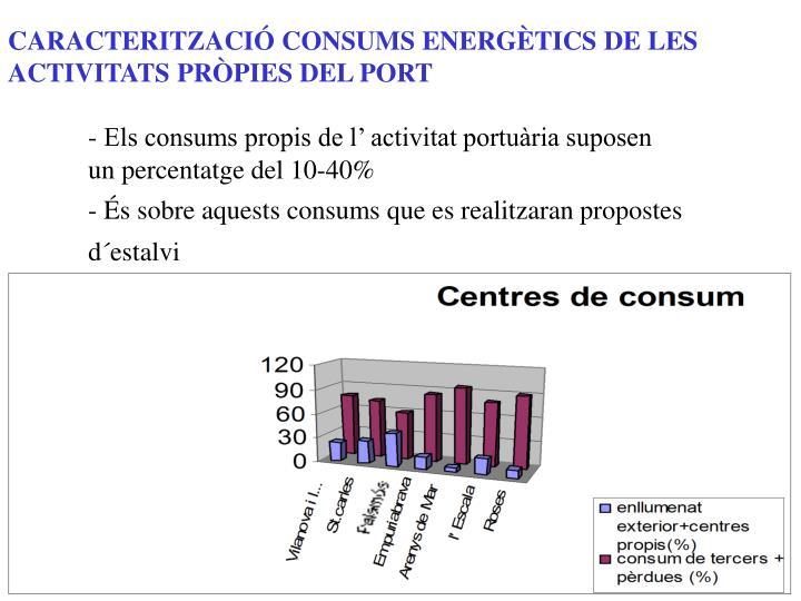 CARACTERITZACIÓ CONSUMS ENERGÈTICS DE LES