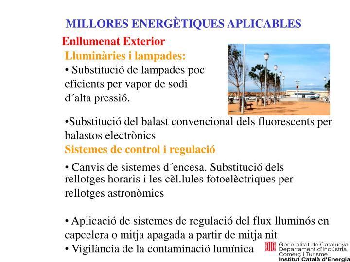 MILLORES ENERGÈTIQUES APLICABLES