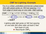 cmf for lighting example