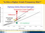 is this a higher crash frequency site