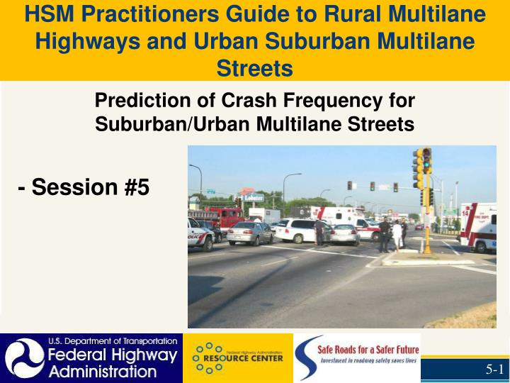 prediction of crash frequency for suburban urban multilane streets