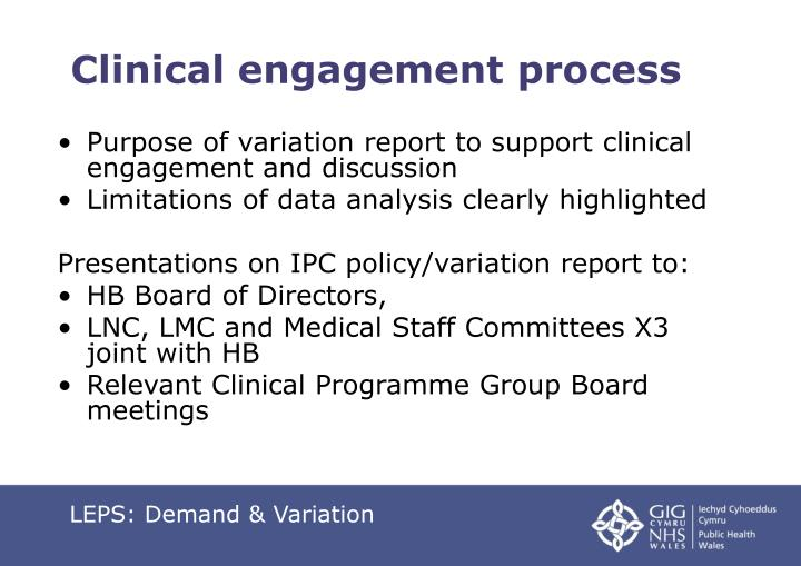 Clinical engagement process
