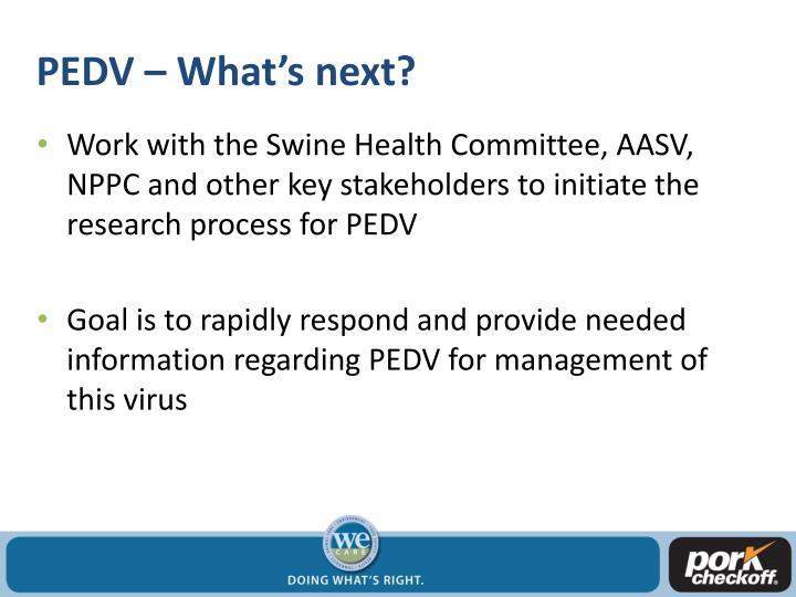PEDV – What's next?
