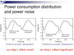 power consumption distribution and power noise