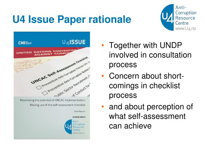 U4 Issue Paper rationale