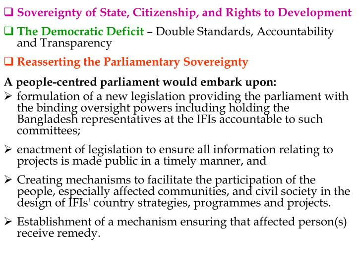 Sovereignty of State, Citizenship, and Rights to Development