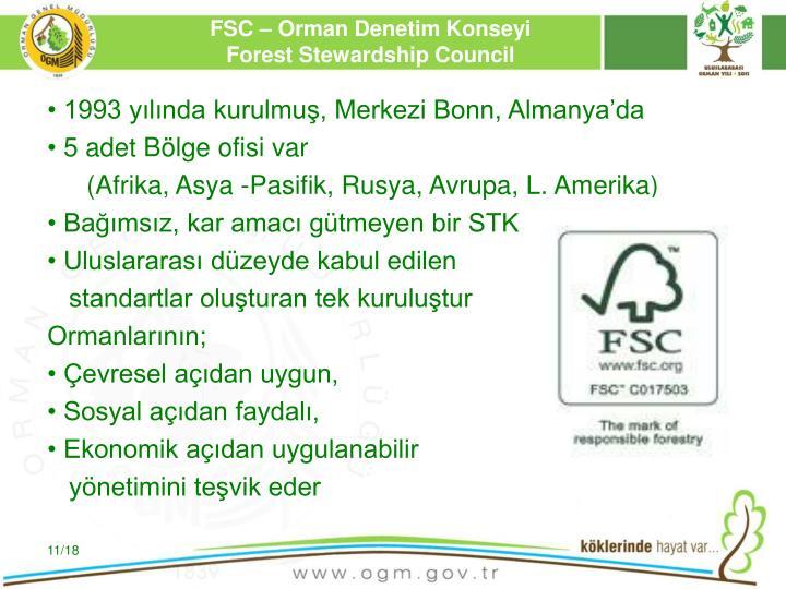 FSC – Orman Denetim Konseyi