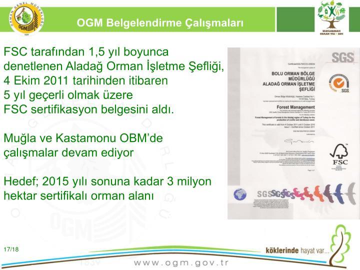 OGM Belgelendirme Çalışmaları