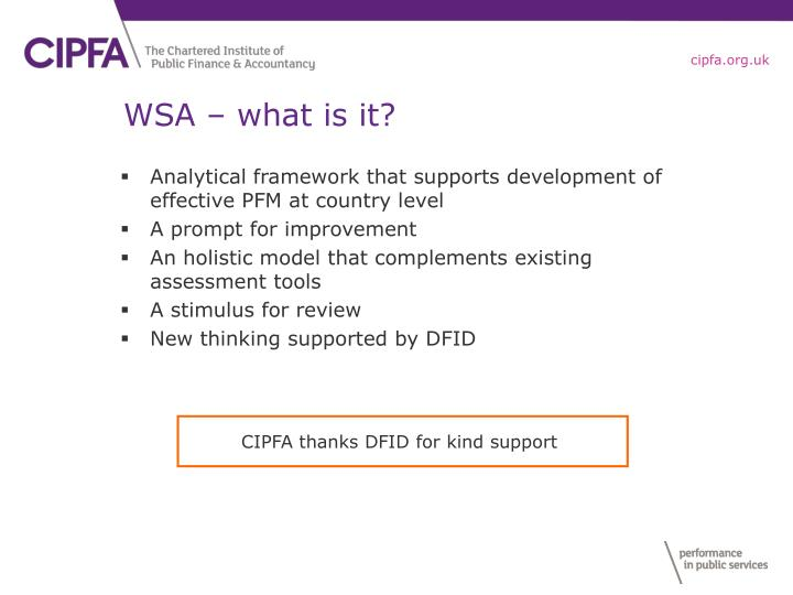 WSA – what is it?
