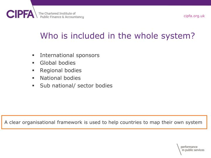 Who is included in the whole system?