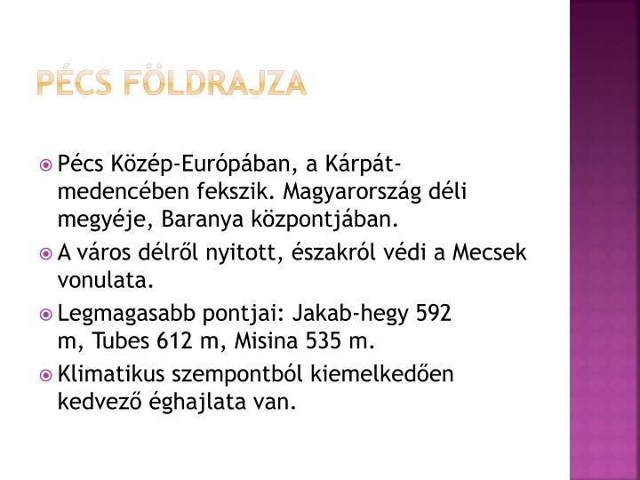 Pécs földrajza