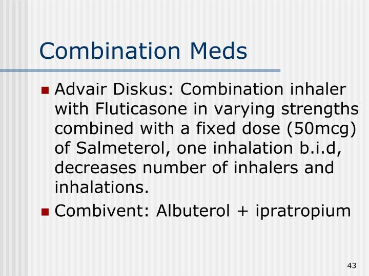 Combination Meds