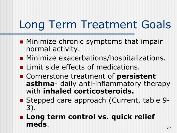 Long Term Treatment Goals