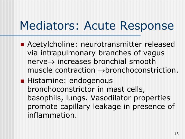 Mediators: Acute Response