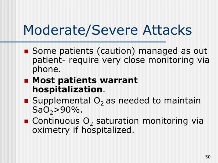 Moderate/Severe Attacks
