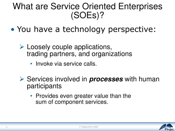 What are Service Oriented Enterprises (SOEs)?