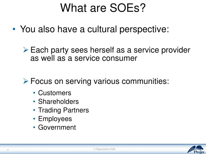 What are SOEs?
