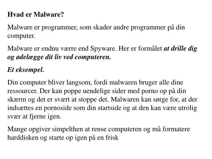 Hvad er Malware?