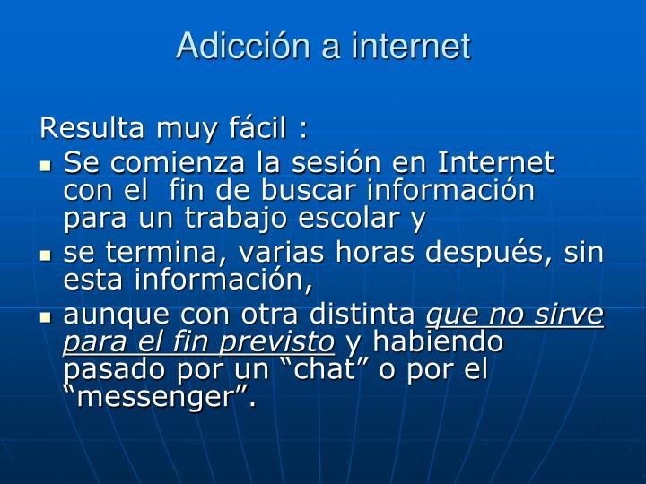 Adicción a internet