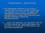 informaci n prevenci n