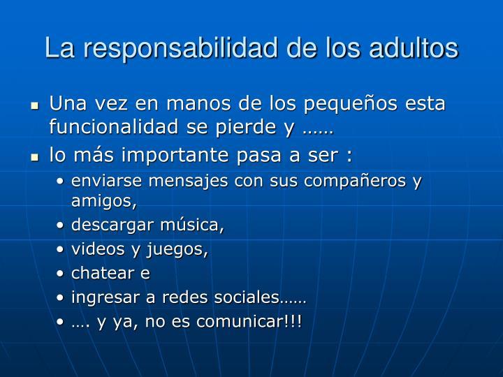 La responsabilidad de los adultos