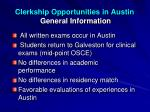 clerkship opportunities in austin general information1