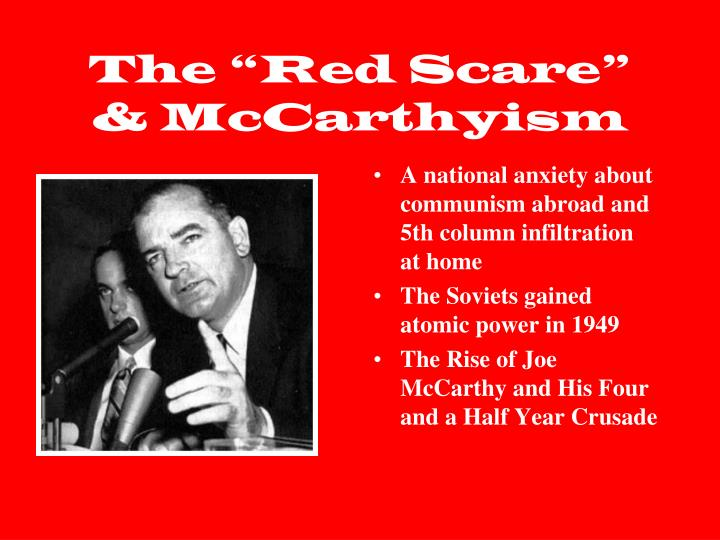 joseph mc carthy and communism essay The public supported the actions of huac and mccarthy because they feared the spread of communism they believed the huac would keep communism out of hollywood they also believed all of mccarthy's lies.