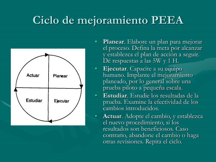 Ciclo de mejoramiento PEEA