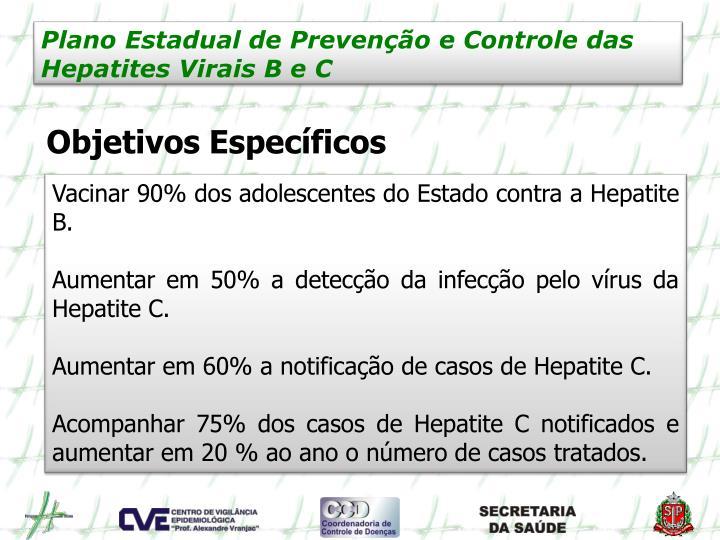 Plano Estadual de Prevenção e Controle das Hepatites Virais B e C