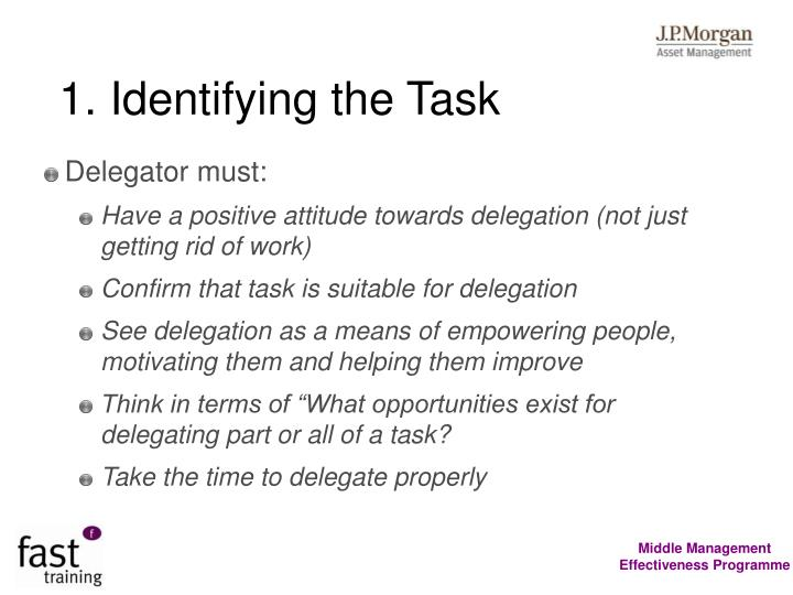 1. Identifying the Task