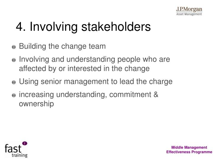 4. Involving stakeholders