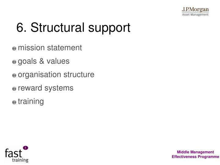 6. Structural support