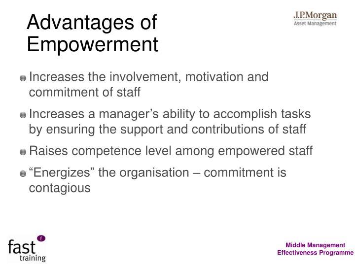 Advantages of Empowerment