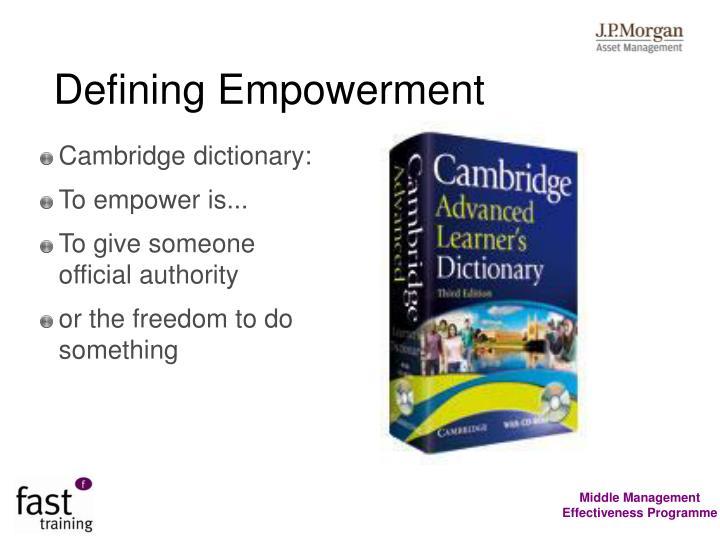 Defining Empowerment