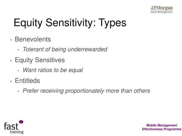 Equity Sensitivity: Types
