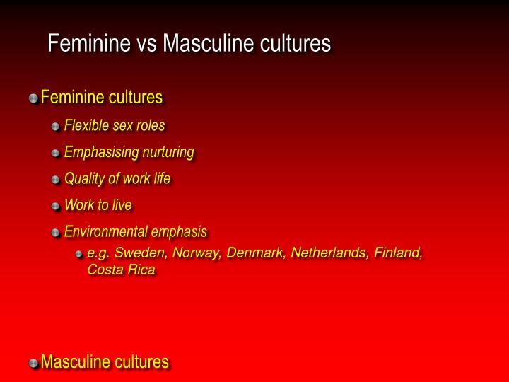 Feminine vs Masculine cultures