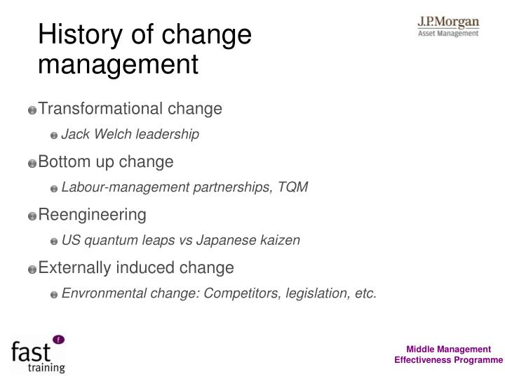 History of change management