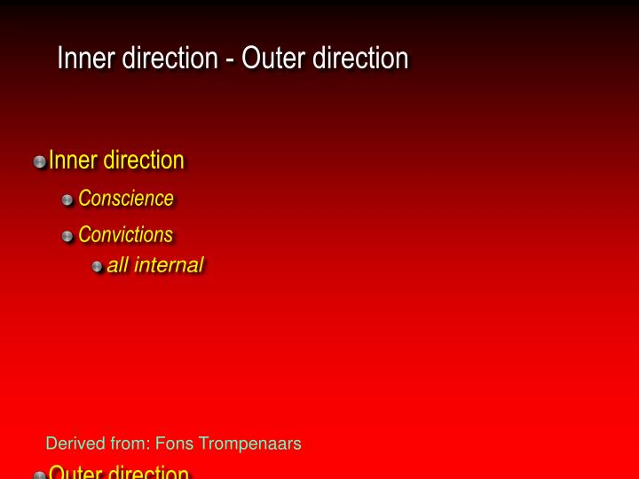 Inner direction - Outer direction