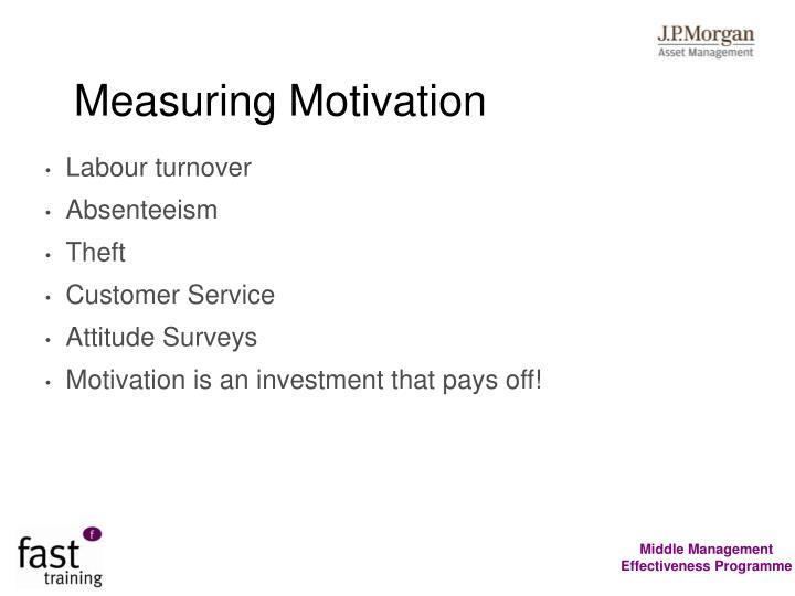 Measuring Motivation