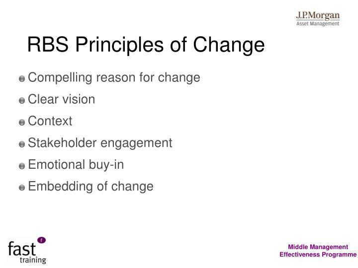 RBS Principles of Change