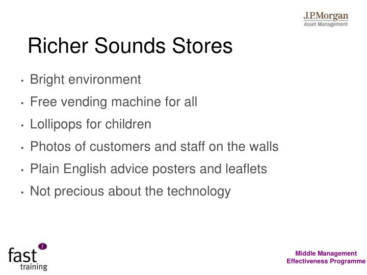 Richer Sounds Stores