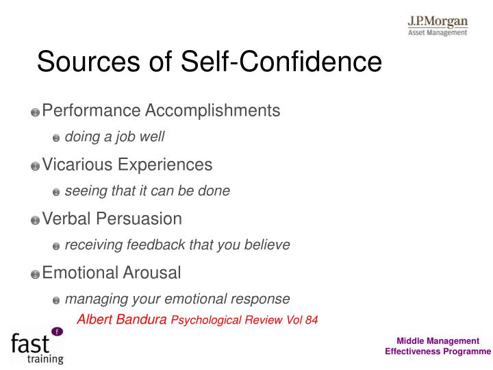 Sources of Self-Confidence