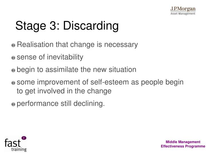 Stage 3: Discarding