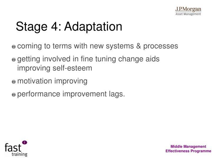 Stage 4: Adaptation