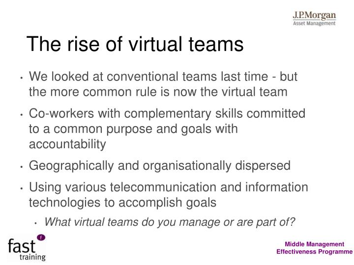 The rise of virtual teams