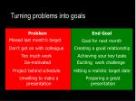 turning problems into goals1