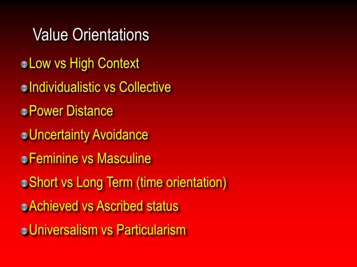 Value Orientations