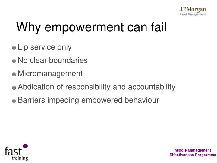 Why empowerment can fail